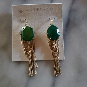 Kendra Scott Vintage Custom Green Earrings